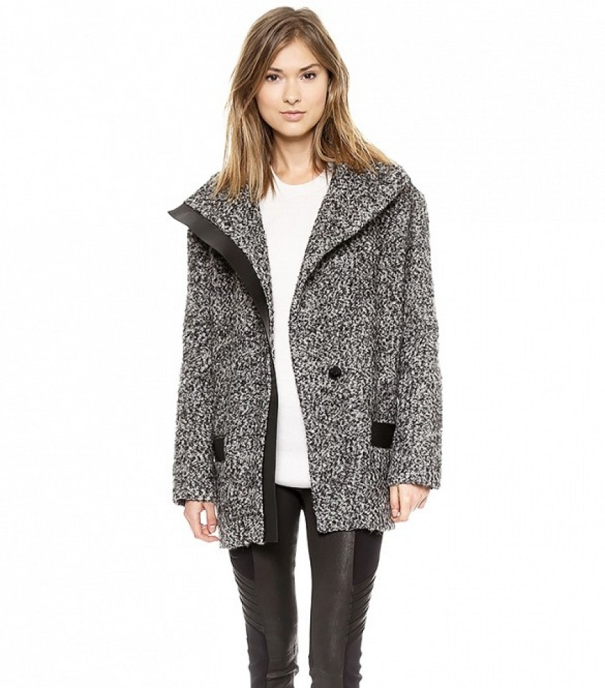 Iro Clayton High Neck Coat ($768)