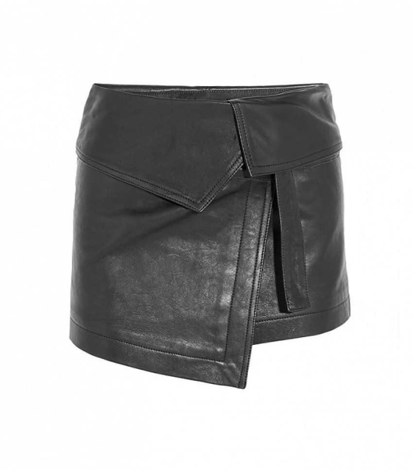 Isabel Marant Hutt Leather Wrap Mini Skirt ($1535)