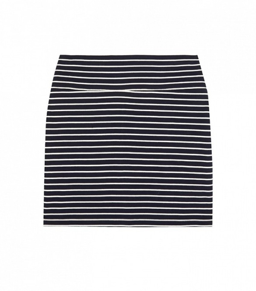 Petit Bateau Striped Cotton-Jersey Mini Skirt ($100)