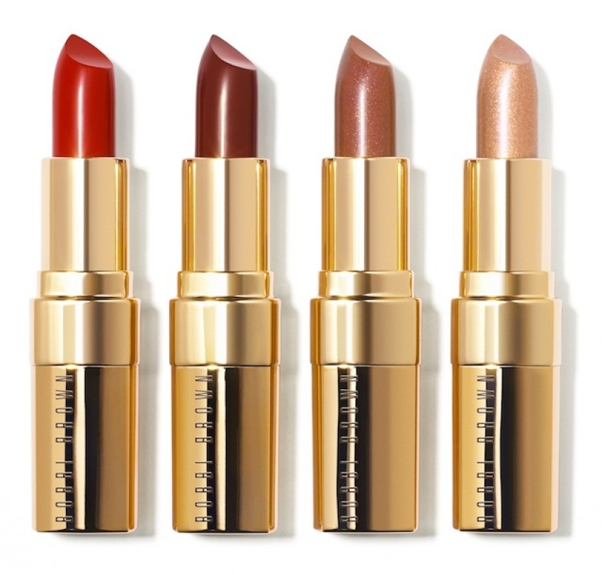 Bobbi Brown Lip Colors u nijansama (L-D) Sultry Red, Bordeaux, Malt Shimmer & Beige Gold Shimmer