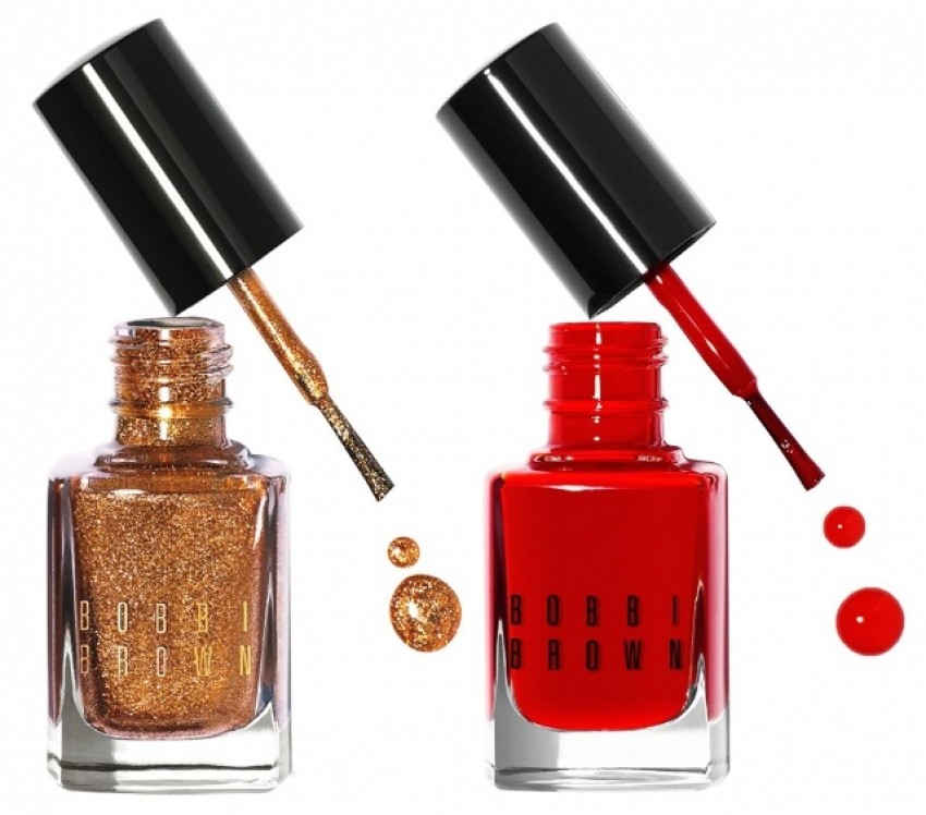 Bobbi Brown Shimmer Nail Polish u nijansi Scotch (lijevo) & Nail Polish u nijansi Cherry Tomato (desno)