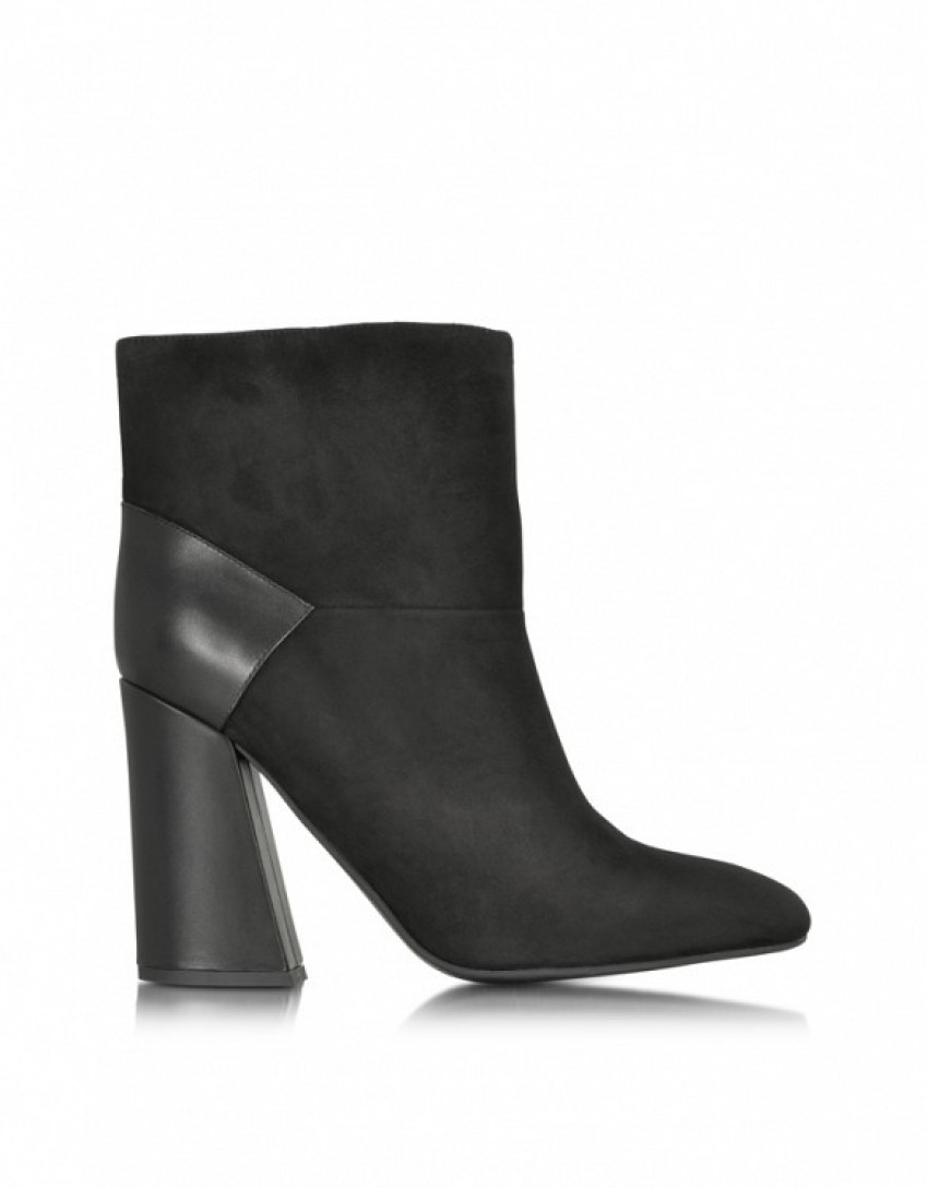 See By Chloe Suede And Leather Ankle Boots ($440)