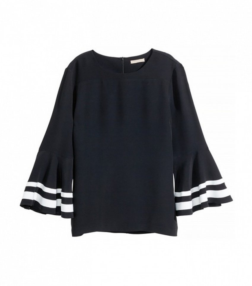 H&M Blouse with Trumpet Sleeves ($50)