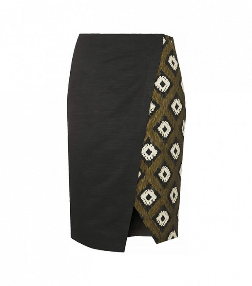 Topshop Hybrid Print Wrap Pencil Skirt ($96)