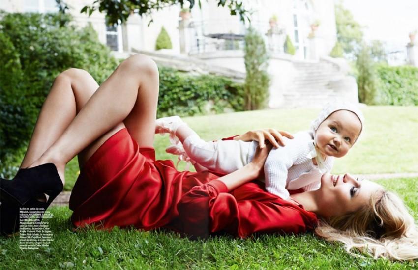 Natasha Poly uz kćer pozirala za Vogue Paris