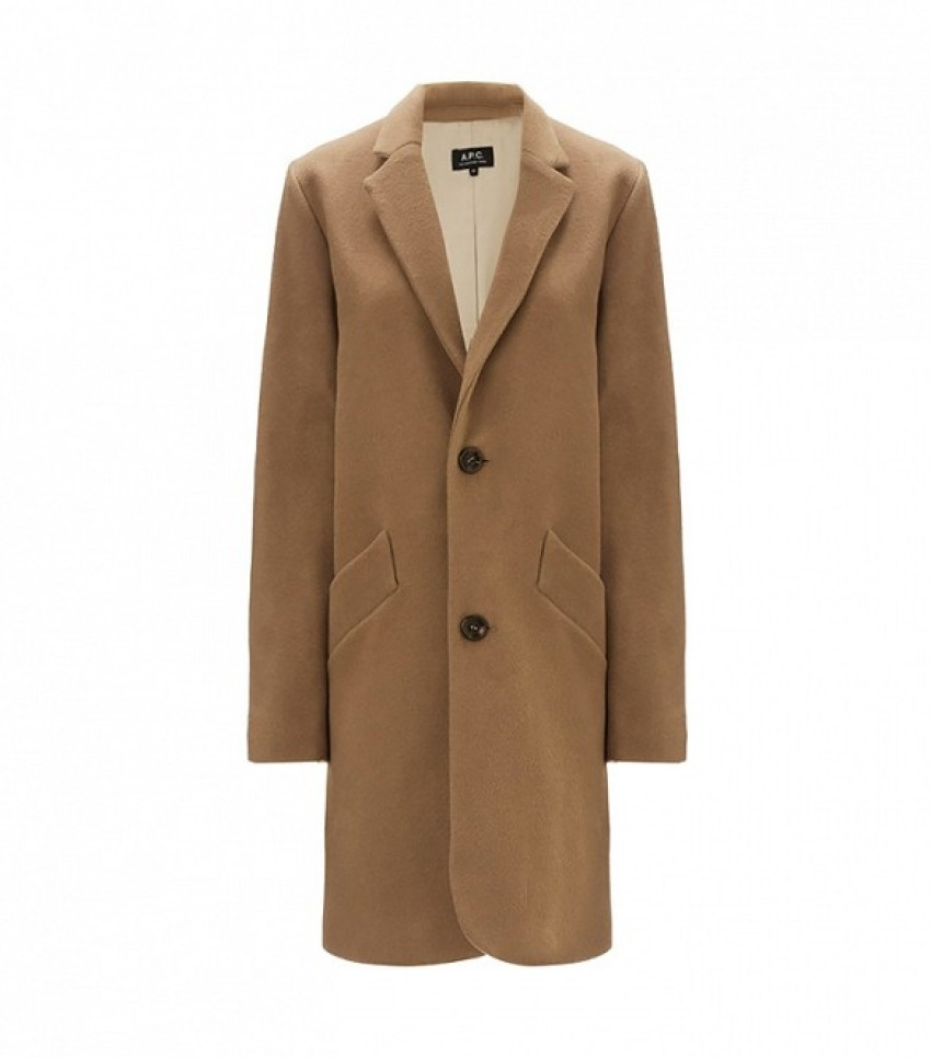 A.P.C. Beige Wool Coat ($630)
