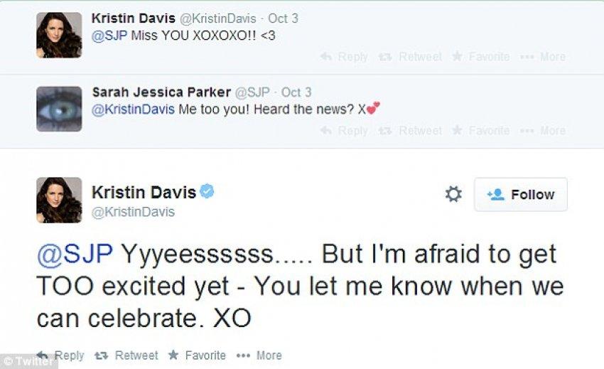 Twitter komentari između SJP i Kristin Davis