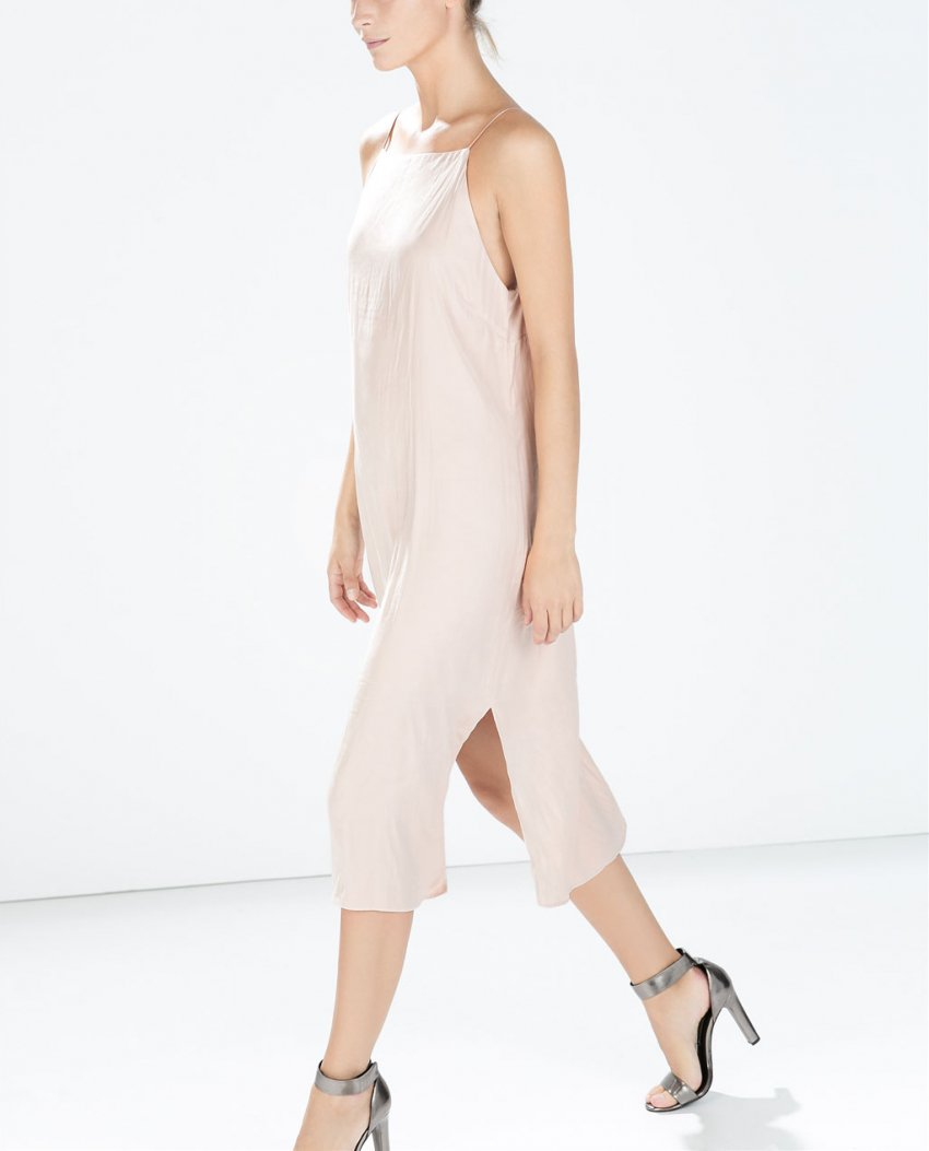 Zara Slip Dress With Slits