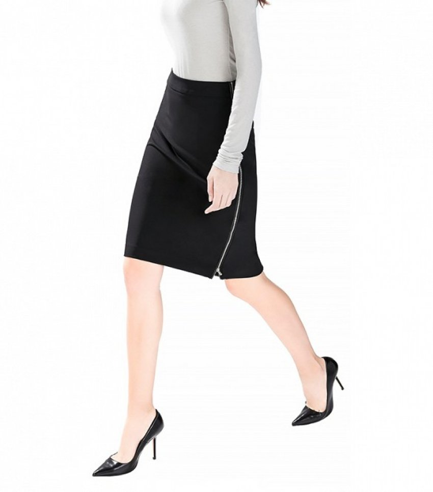 Zara Pencil Skirt with Side Zips ($60)
