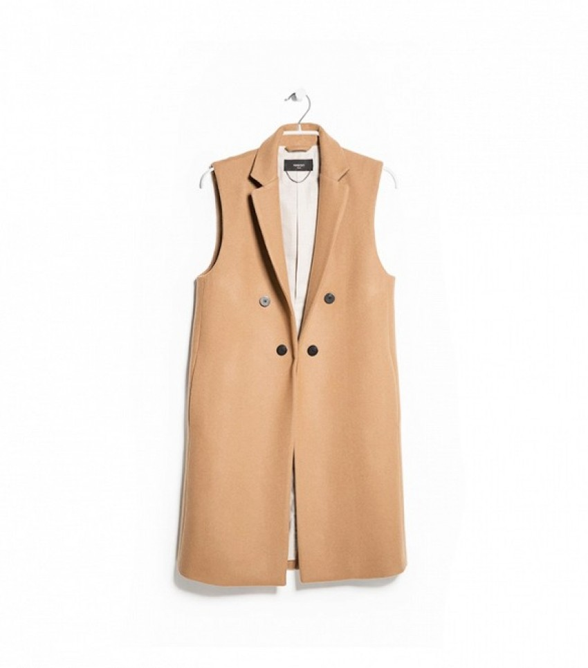 Mango Wool Long Gilet ($130)