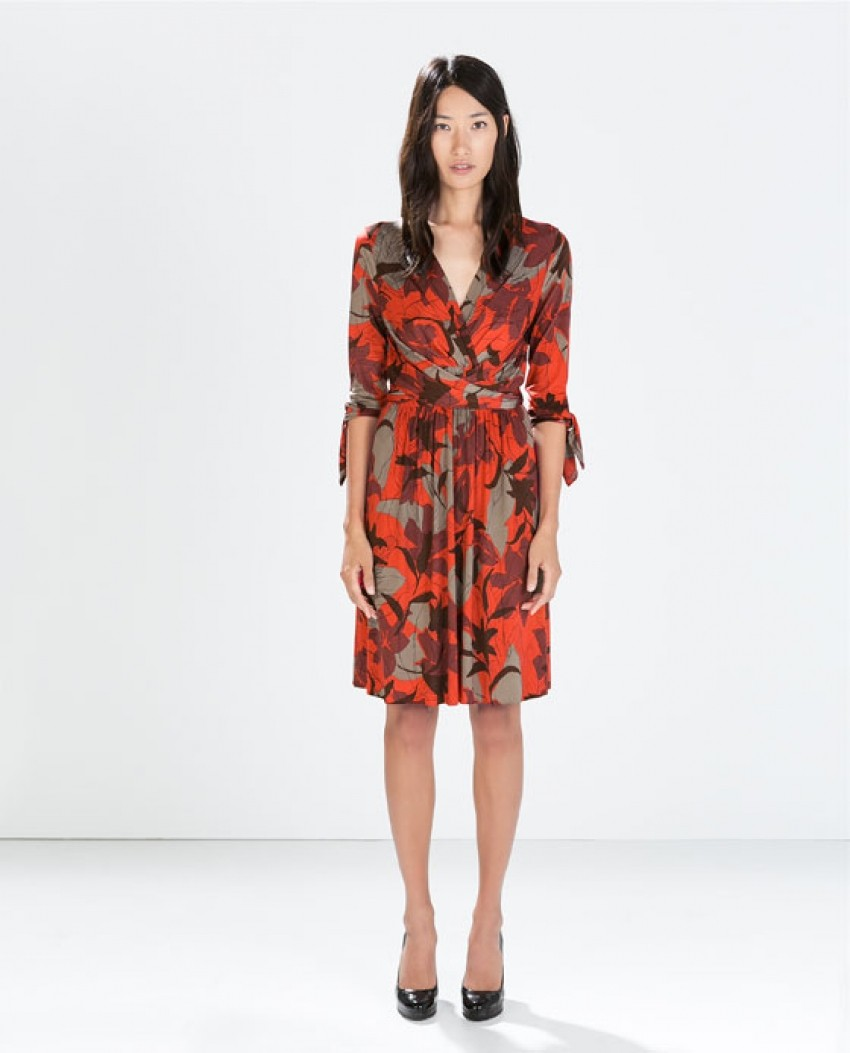 Zara Floral Wrap Dress