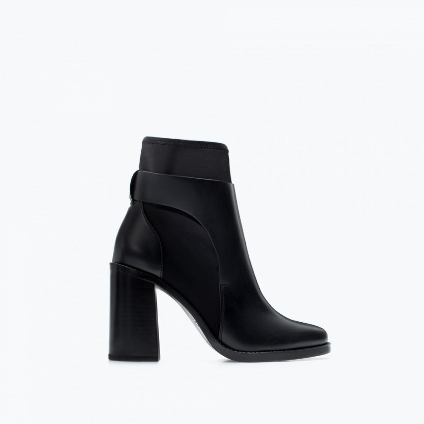 ZARA Neoprene High Heel Ankle Boot
