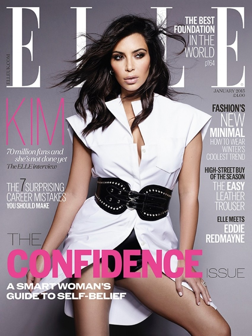 Kim Kardashian za Elle UK
