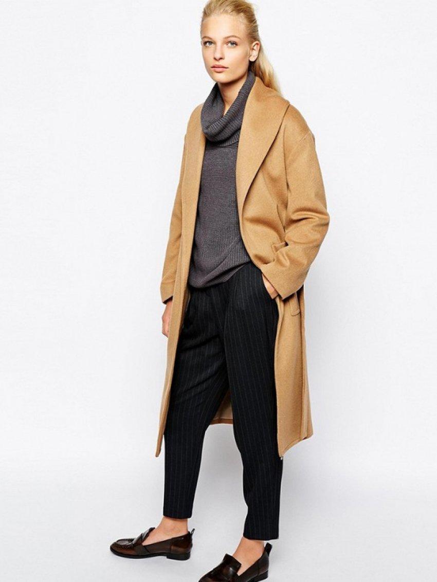 Mango Belted Wool Midi Coat ($265)