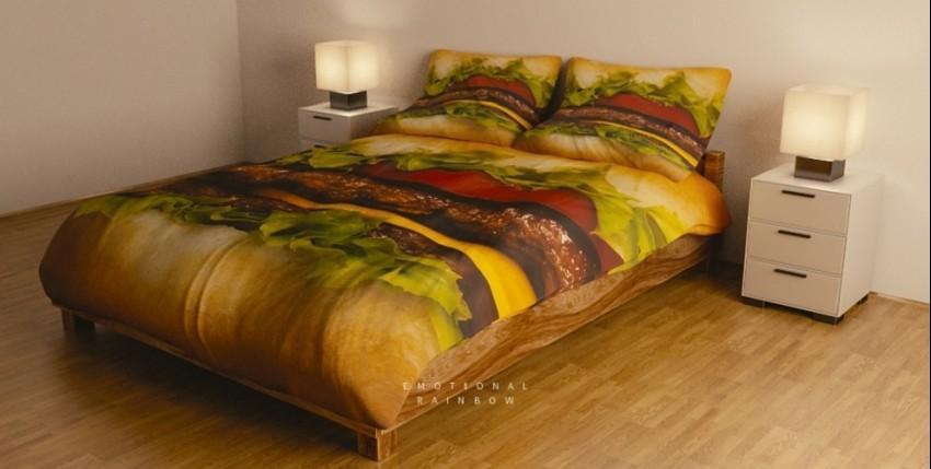 Biste li spavali među pizzama i hamburgerima?