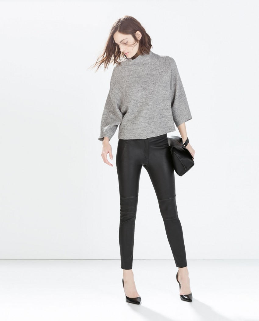 Zara Leather Skinny Trousers