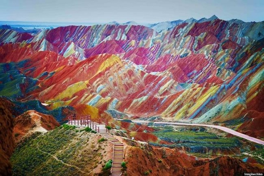 Rainbow Mountains, Gansu Provincija, Kina