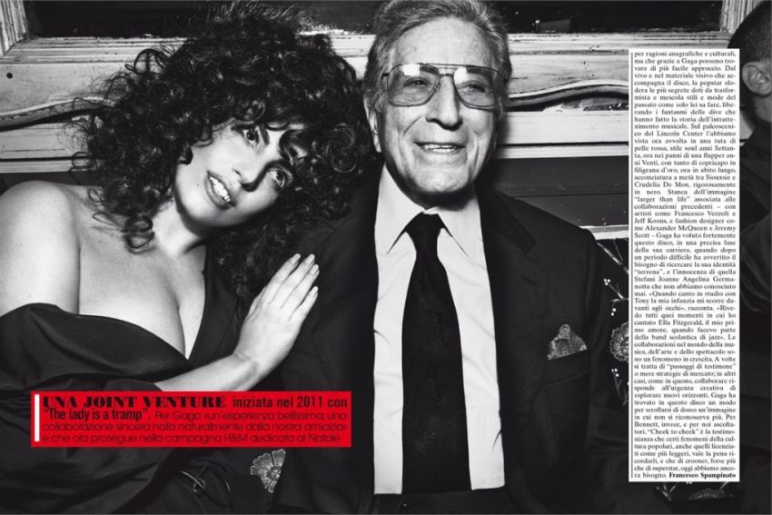 Lady Gaga & Tony Bennett za L'UOMO Vogue