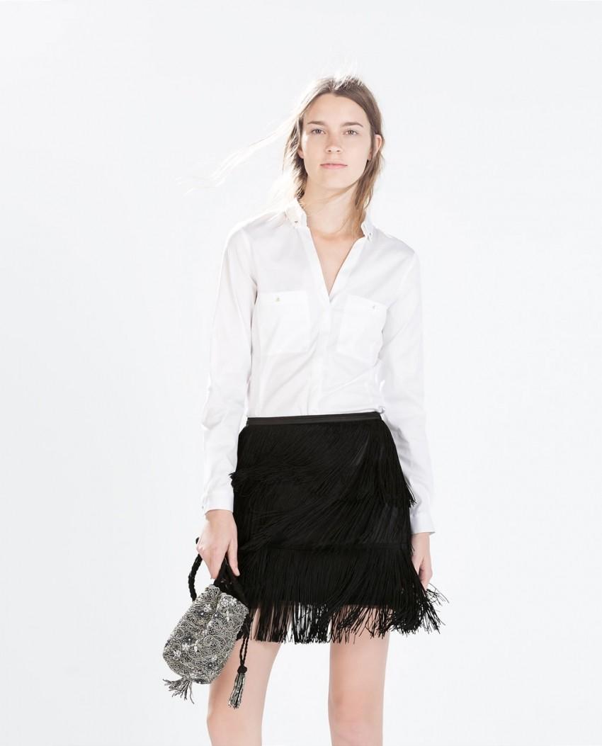Zara Fringed Skirt (299.90 kn)
