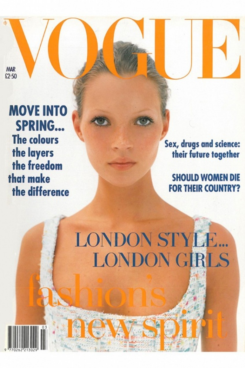 Kate Moss za Vogue (ožujak 1993.)