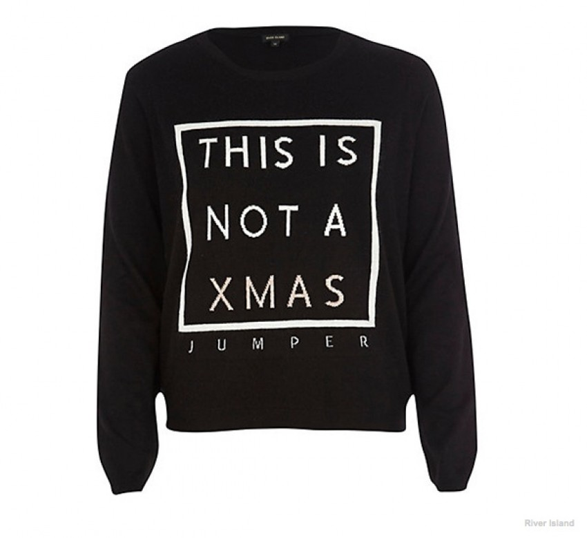 River Island This is Not a XMas Jumper ($60.00)
