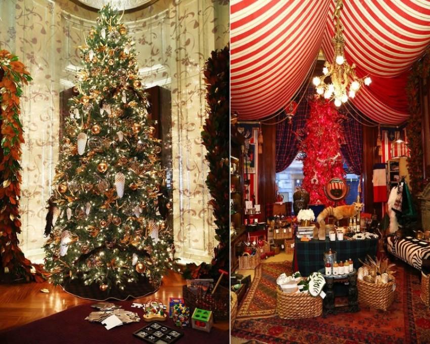 Pogledajte luksuzna božićna drvca u hotelima diljem svijeta