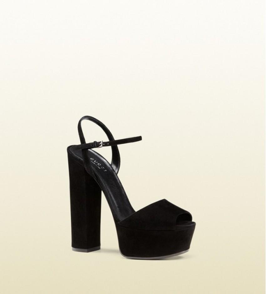 Gucci Suede Platform Sandals ($650)
