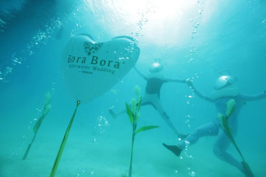 Vjenčajte se na Bori Bori pod morem!