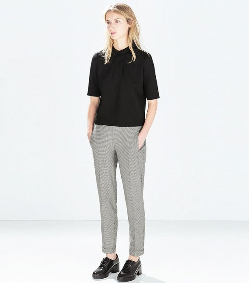 Zara Houndstooth Trousers ($30)