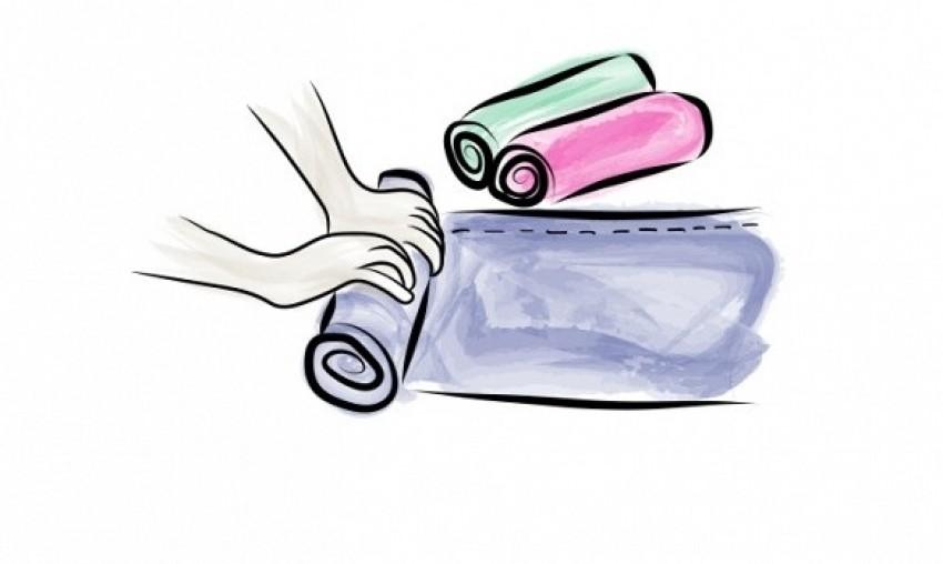 1. korak: rolanje odjeće