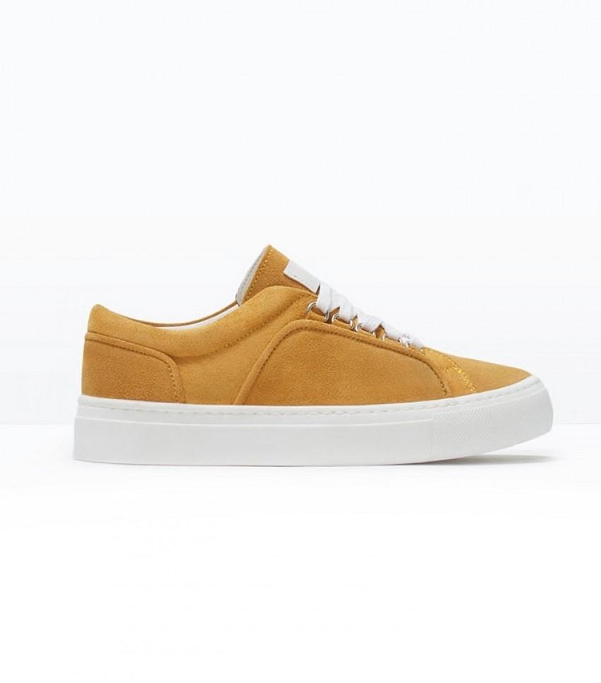 Zara Suede Plimsoll Sneakers ($80)