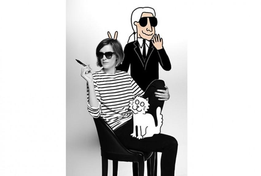 Uskoro će vam zid moći ukrasiti i vesela karikatura Karla Lagerfelda