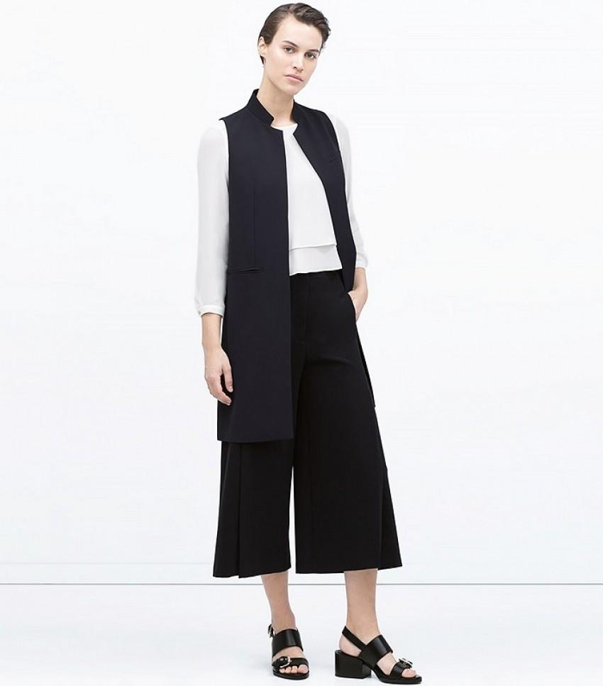 Zara Long Tailored Waistcoat ($100)