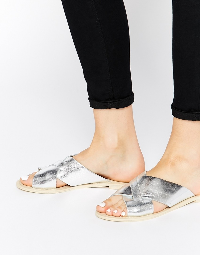 ASOS FLICK Leather Sliders