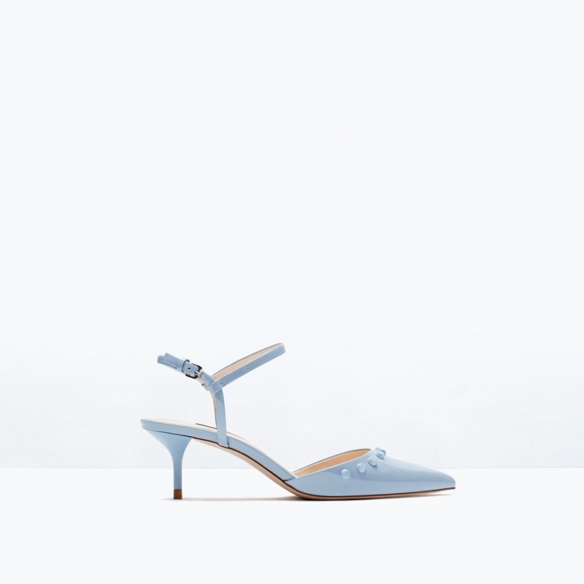 Zara kitten heel studded shoes (299.90kn)