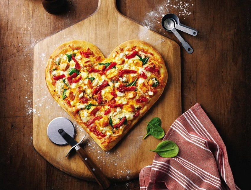 Pizza u obliku srca u Campu Zagreb