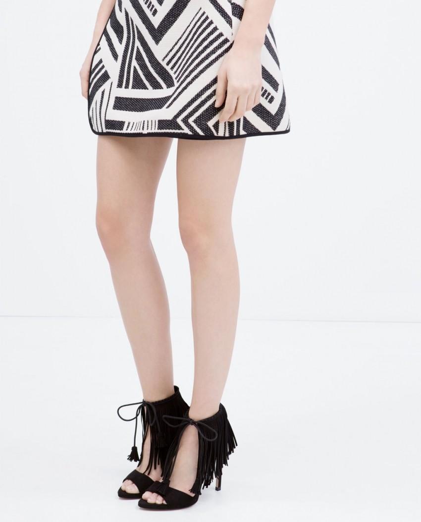Zara Fringed high heel sandals (499.90 HRK)