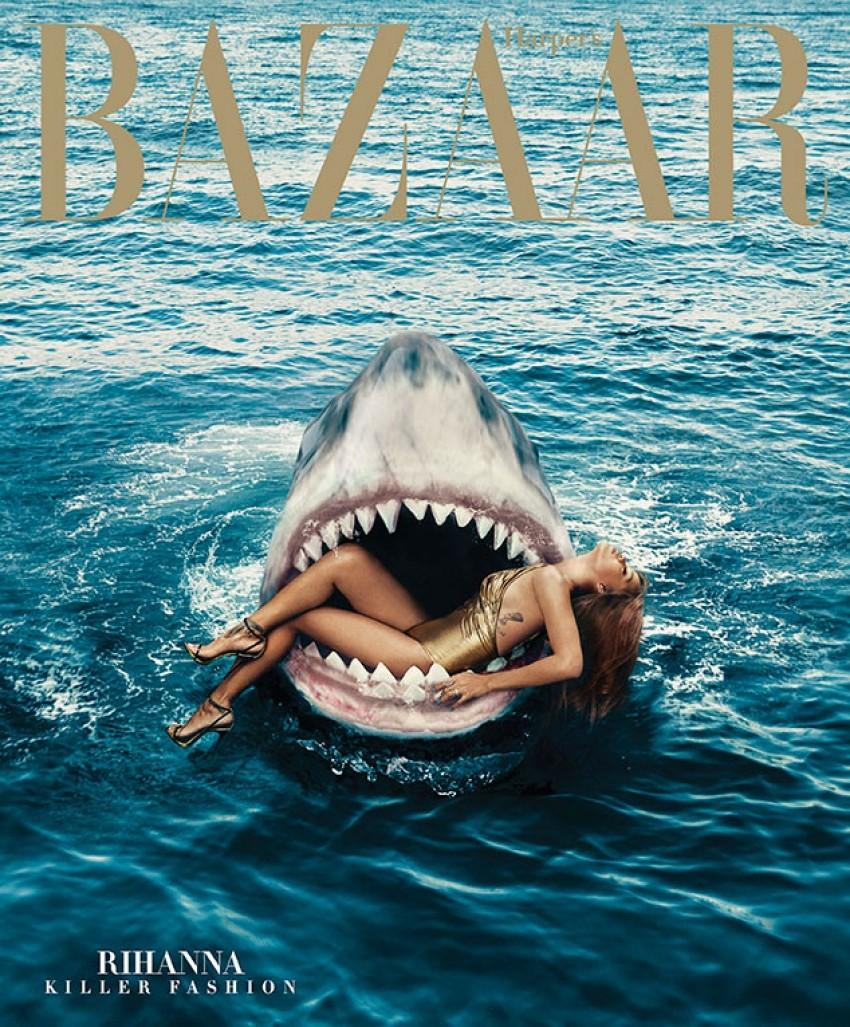 Seksi Rihanna plivala s ribama i pozirala u raljama morskoga psa