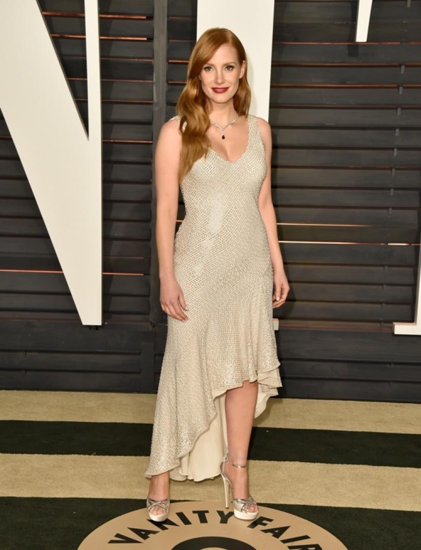 Jessica Chastain u H&M haljini na Vanity Fair OScar After-partyju