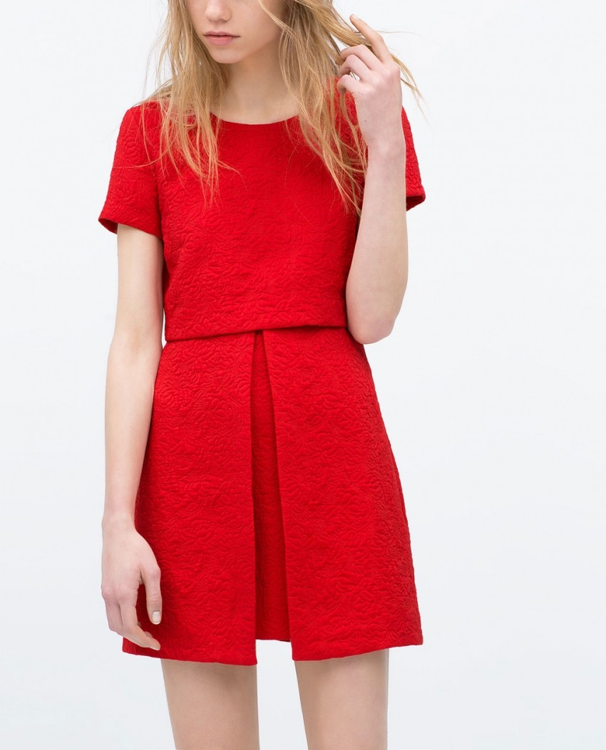 Zara Asymmetrical skirt jacquard dress  299.90kn