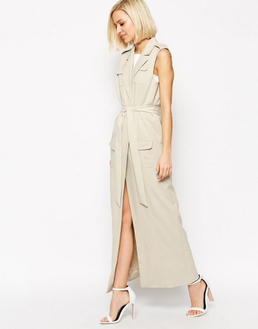 Lavish Alice Sleeveless Belted Maxi Trench Coat ($146)
