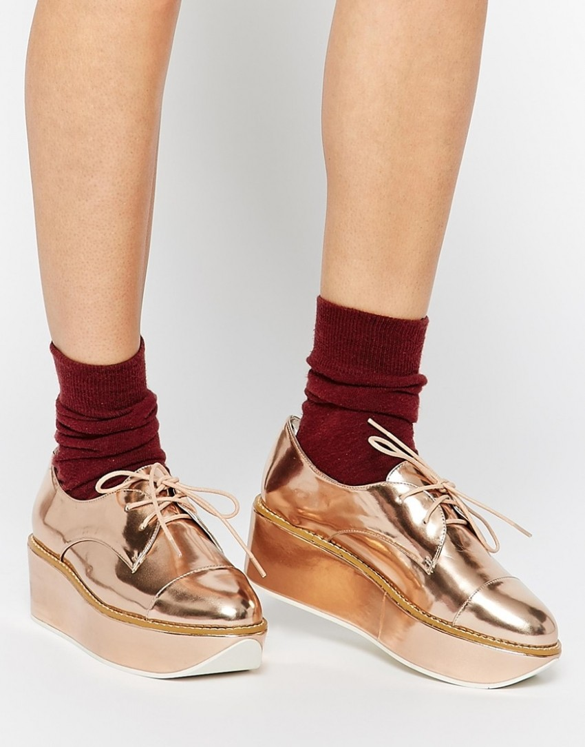 ALDO Quirta Rose Gold Flatform Shoes