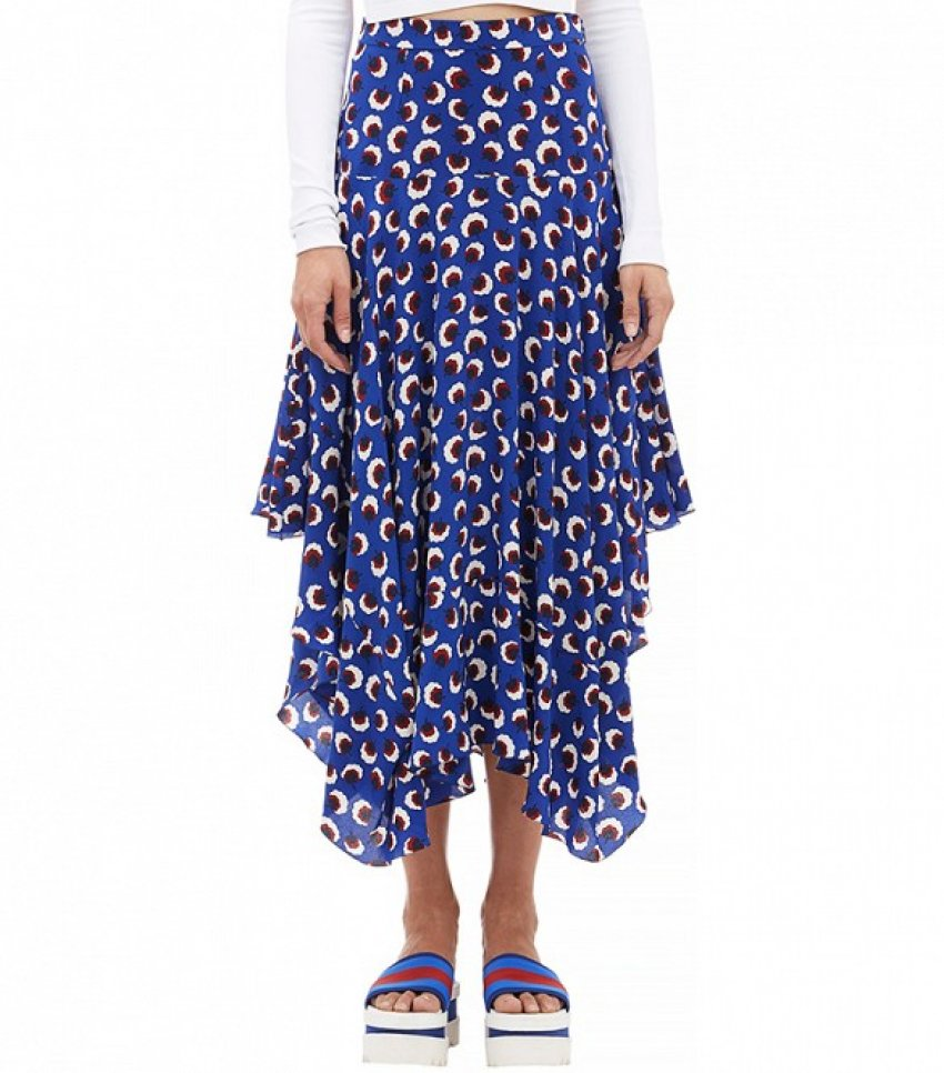 Stella McCartney Blossom-Print Asymmetric Skirt ($1,635)