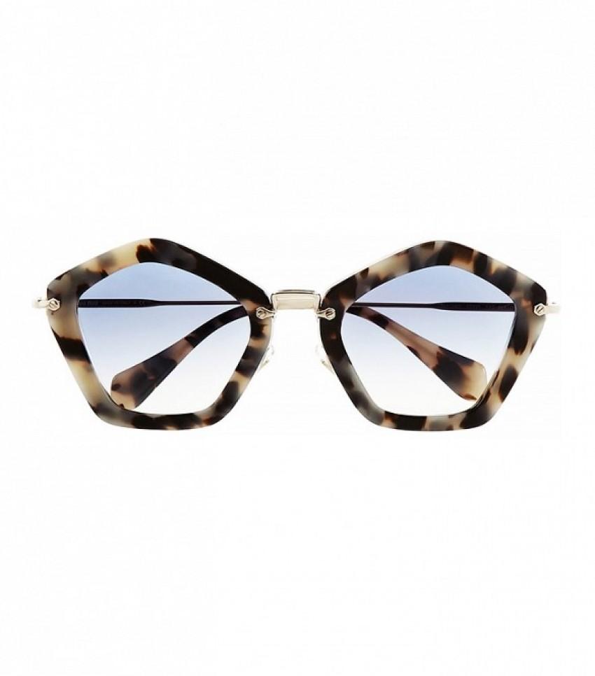 Miu Miu Pentagon-Frame Sunglasses