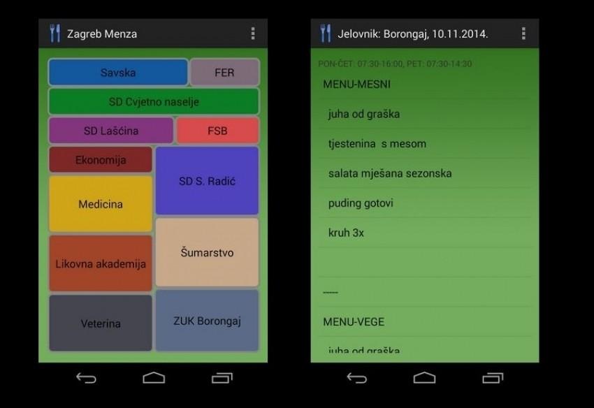Zagreb Menza je savršena nova aplikacija za studente