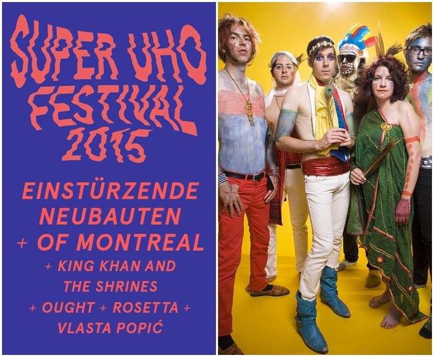 SuperUho Festival najavljuje nove izvođače: of Montreal / Ought / Vlasta Popić