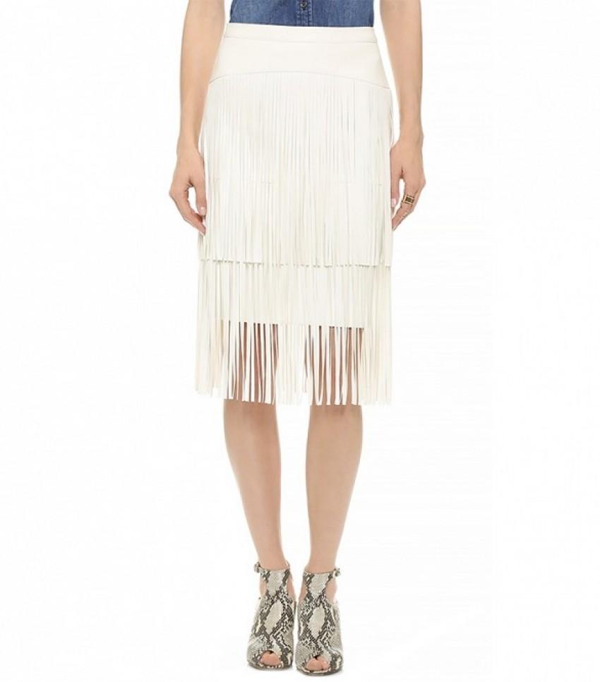 BCBGMAXAZRIA Rashell Fringe Skirt ($298)