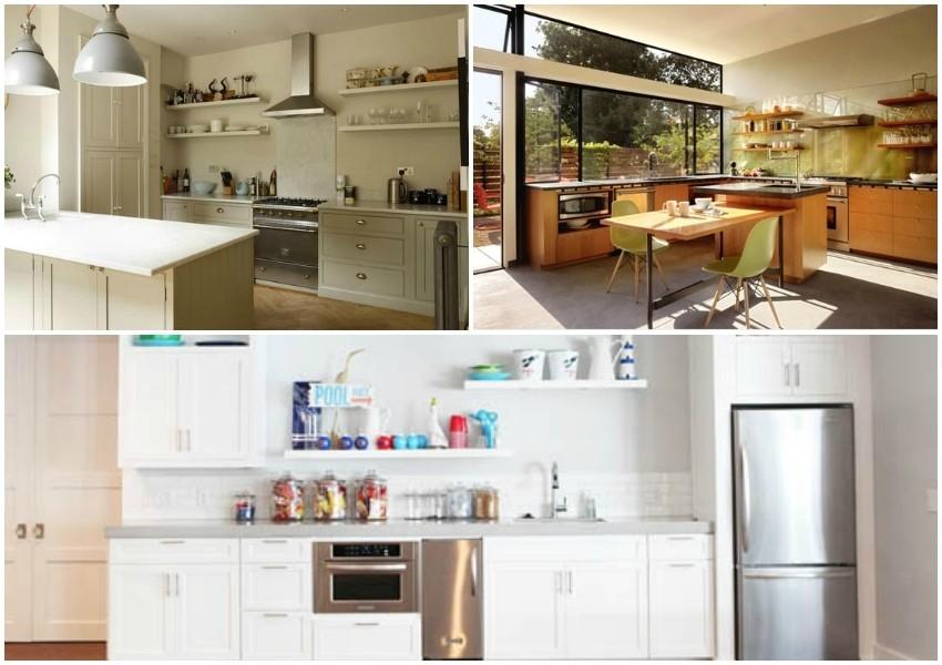 Gornje elemente kuhinje zamijenite s otvorenim policama