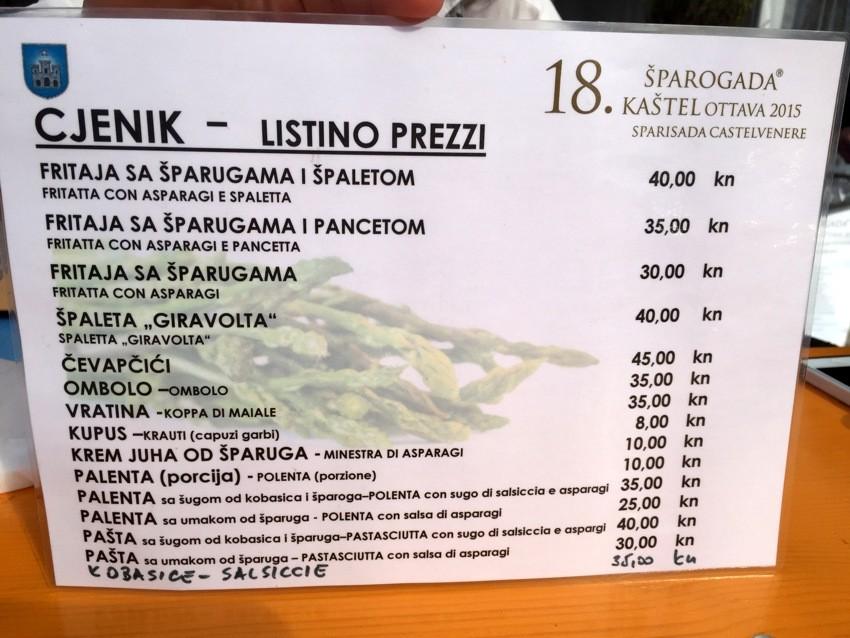 18. šparogada, Kaštel, Istra