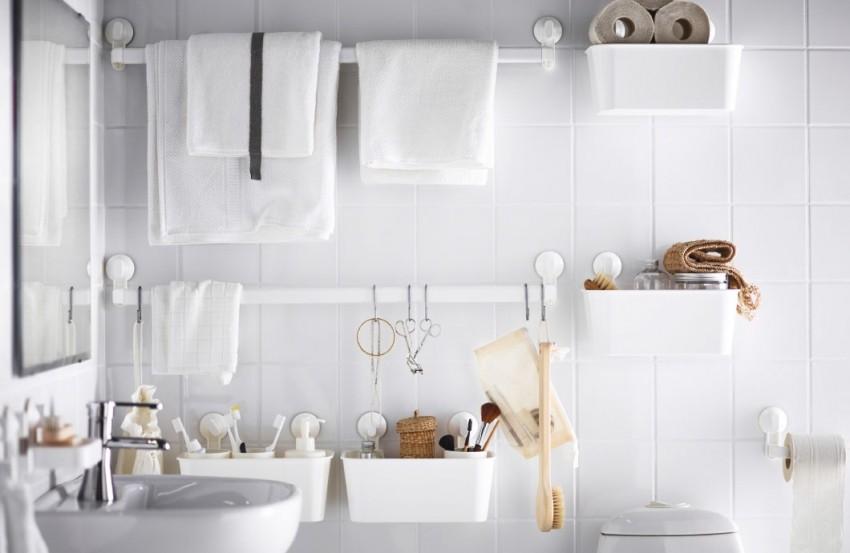 Upotrijebite zidove svoje kupaonice (bez bušenja!)